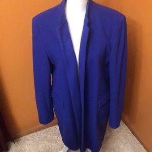 Louben lined wool coat/blazer .  Royal blue.